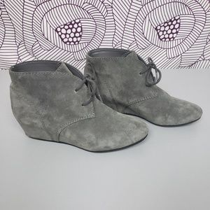 787e728017cf Nine West Shoes - Nine West Gray Leather Wedge Ankle Boots